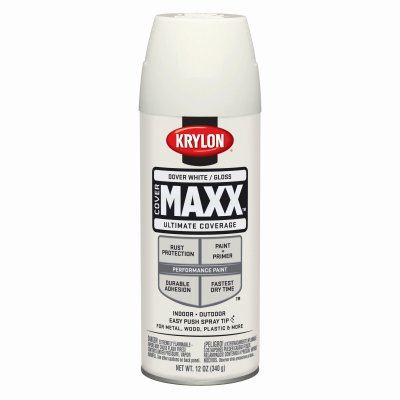 Case of 6, COVERMAXX, 12 OZ, Dover White, Gloss, Brilliant A