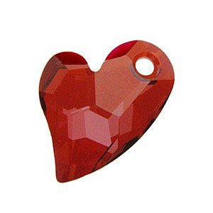 1 pc Swarovski Crystal 6261 Devoted 2 U Heart Charm Pendant Red Magma 17mm / Findings / Crystallized Element