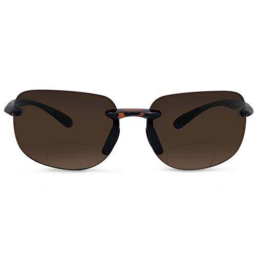 In Style Eyes Lovin Maui Wrap Premium Polarized Bifocal Sunglasses tortoise 2.00 ()