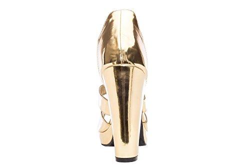 Andres Machado AM5072.Sandalias Cremallera Soft .Tallas Pequeñas y Grandes. 32/35-42/45. Mujer. Oro
