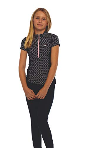 Goode Rider Girls Ideal Show Shirt, Navy Circle, 16 ()