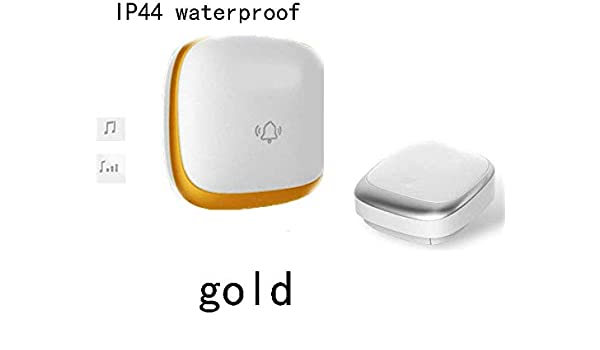 ZGYQGOO 4 Volumen Ajustable, sin Cables, Seguridad para el hogar ...