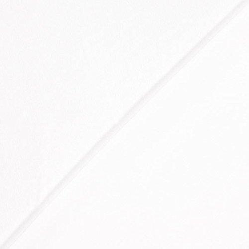 Polyester CHIFFON Stoff CREME WEISS 140cm breit Meterware DEKO halbtransparent