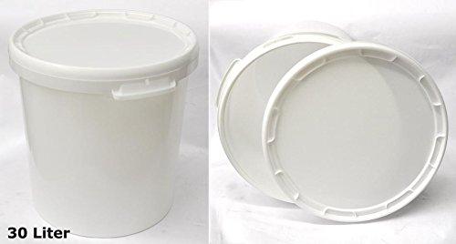 Seau plastique 30 L Hobbock alimentaire avec couvercle 22049