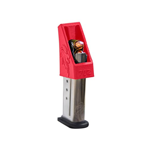 SINGLE STACK Magazine loader RAE-702 for Pistol Magazines of many calibers Springfield M&P Shield 9mm Springfield XDS 40 all Colt 45 1911 45ACP .357 .380 10mm .40 cal .45 cal. MADE IN THE USA (Red)