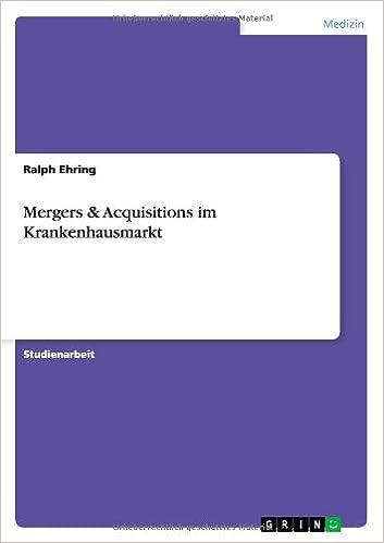 Book Mergers & Acquisitions im Krankenhausmarkt
