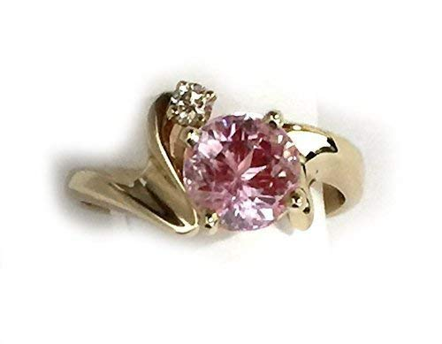 14kt Gold Ring with Kunzite and Diamond
