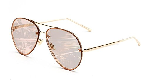 GAMT Vintage Rimless Aviator Sunglasses Mirrored Clear Lens Designer for Women - Aviator Vintage Sunglasses