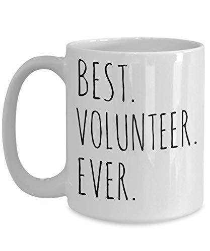 Best Volunteer Ever Mug Gift Idea For Men Women Him Her Christmas Birthday Thank You Appreciation Unique Minimalist Coffee Cup Ceramic White -