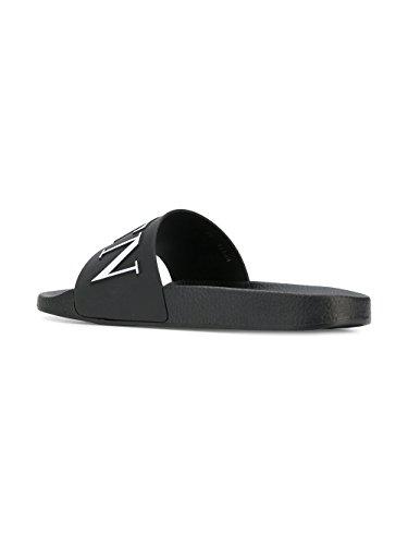 Valentino Heren Py0s0873sye0ni Zwarte Rubberen Sandalen