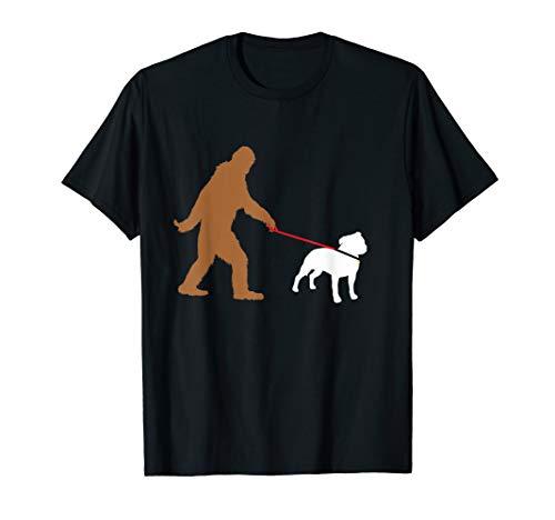Bigfoot Walking Staffordshire Bull Terrier Dog Sasquatch (Long Leg Staffordshire Bull Terrier For Sale)