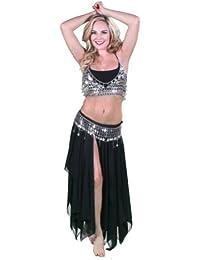 Bellydancer Costume Set   Skirt-Coin Bra & Coin Belt   OnyxRave
