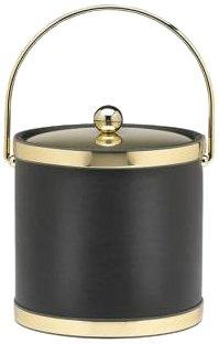 Kraftware  Black with Polished Brass by Kraftware