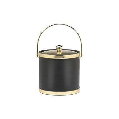 Kraftware  Black with Polished Brass
