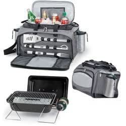 Vulcan Cooler tote with BBQ tools and propane grill