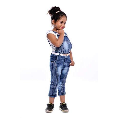 31oXqzpvO1L. SS500  - Aayat Fashion Girls Slim Fit 3/4 Pant Beautiful Embroidery Dungaree