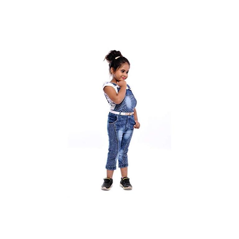 31oXqzpvO1L. SS768  - Aayat Fashion Girls' Knee Length Dungaree