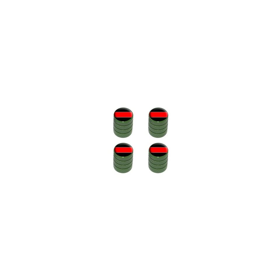Thin Red Line   Firemen Tire Rim Valve Stem Caps   Green