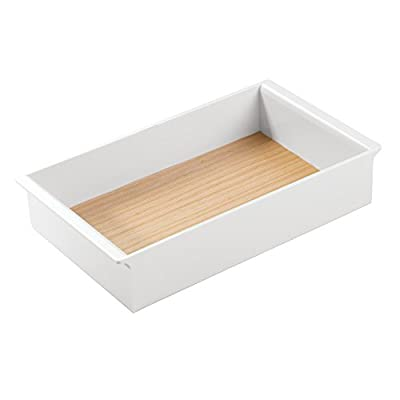 InterDesign RealWood Cosmetic Organizer Tray for Vanity Cabinet to Hold Makeup -  - organizers, bathroom-accessories, bathroom - 31oXrllcEsL. SS400  -