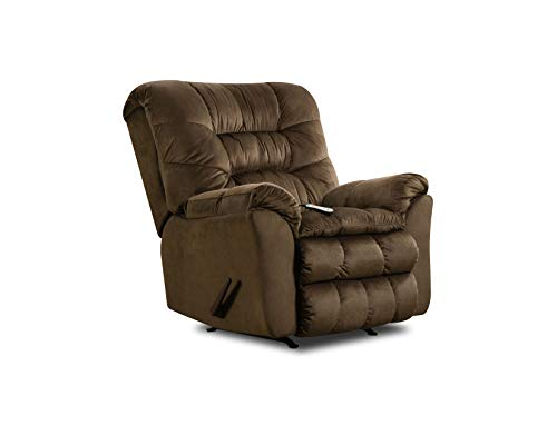 - Simmons Upholstery U678-191 Carmen Umber Rocker Recliner W/Heat and Massage, Brown