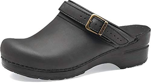 Dansko Women's Ingrid Black Oiled 39 EU (8.5-9 M US Women's)