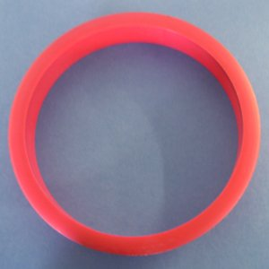 6'' Trash ring red plastic 8/pkg 1044RED