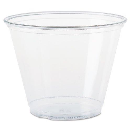 (SOLO Cup Company Ultra Clear Cups, Squat, 9 oz, PET, 50/Bag, 1000/Carton)