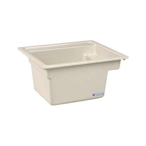 - Mustee 25BT Vector Multi Task Sink, 22-Inch x 25-Inch, Biscuit