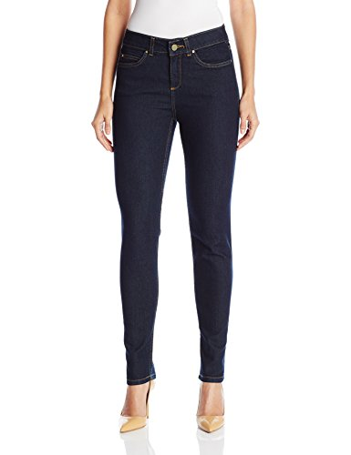 Rafaella Women's Weekend Skinny Leg Slim Fit Jeans, Dark Indigo, 16