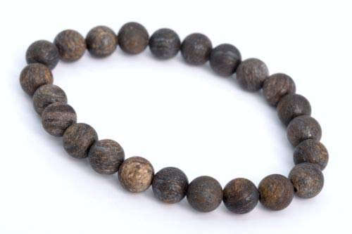 8mm Matte Toffee Bar Bronzite Bracelet Grade Natural Round Beads 7'' Crafting Key Chain Bracelet Necklace Jewelry Accessories Pendants ()