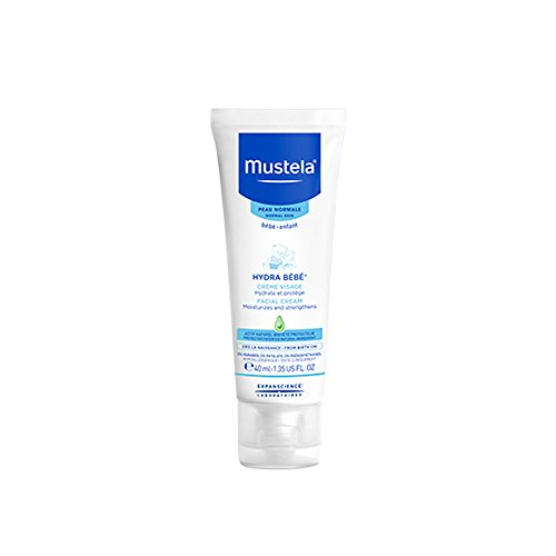 Mustela Hydra Bebe Face Cream, Baby Daily Moisturizer with Natural Avocado Perseose, for Normal Skin, 1.35 - Clearing Foam Kids Bath