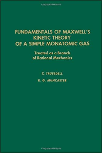Fundamentals of Maxwell's Kinetic Theory of a Simple Monatomic Gas: Treated as a Branch of Rational Mechanics (Pure and Applied Mathematics, Volume 83)