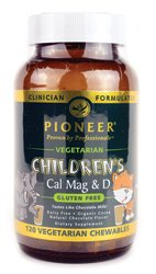 Pioneer - Children's Cal Mag & D Vegetarian Chocolate Flavor - 120 (Chewable Jungle)