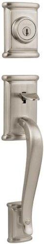 Double Ashfield Handleset Cylinder (Ashfield Double Cylinder Entrance Handleset Finish: Satin Nickel)