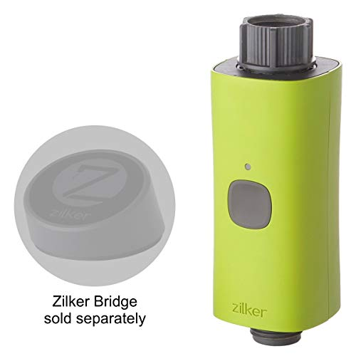 - Zilker Smart Hose Faucet Water Timer - Add-On Valve - Programmable with Local Weather Data - Wireless Control - Flow Meter (Gallons) - Detects Leaks Bridge Required (Sold Separately)
