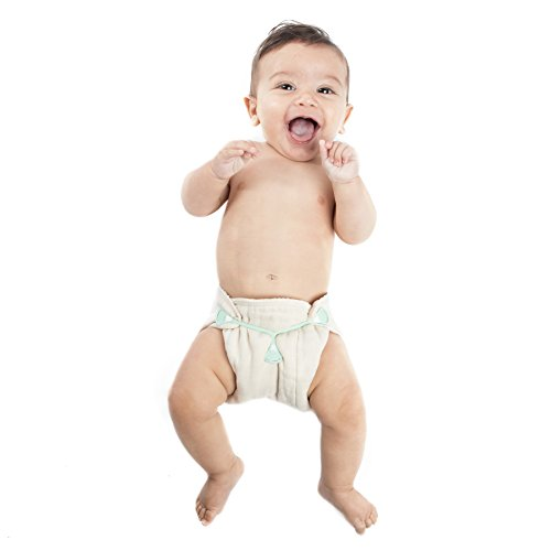 Humble Bebe Prefold Cloth Diapers - 12-Pack - Unbleached Premium Cotton, Pre-Washed, Fits Newborn Babies to Toddlers (10-30 lbs), Multi-Use
