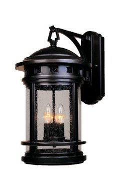 Oil Rubbed Bronze 3 Light 11in. Cast Aluminum Wall Lantern from the Sedona Collection