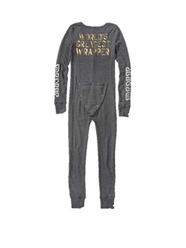 Victoria's Secret Pajama Thermal Sleepwear Cozy One Piece Gray Medium