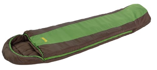 Eureka! Grasshopper 30 Degree Childrens Mummy Sleeping Bag; Comfortable, Lightweight Four-Season, Thermally Efficient Bag for Camping – Green/Brown – Childrens