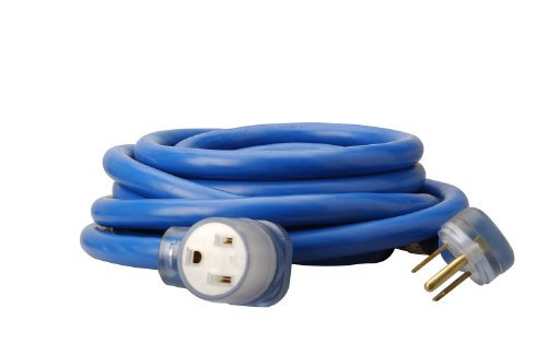 Coleman Cable 1917 8/3 STW 6-50 Welder Extension Cord With 3-Prong Plug In Blue (25-Foot, 8/3 (250 Volt 25 Foot Cable)