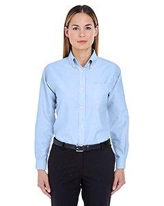 Ultraclub 8990 UC Ladies Oxford Shirt - Light Blue - - Oxford Pinpoint Shirt Ladies