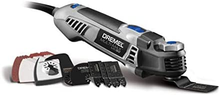 Dremel MM50-01 Multi-Max Oscillating DIY Holiday Tool Kit with Tool-LESS Accessory Change- 5 Amp- Multi Tool with 30 Accessories- Compact Head Angled Body- Drywall, Nails, Remove Grout Sanding