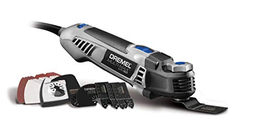Dremel MM50-01 Multi-Max Oscillating Tool Kit with Tool-LESS Accessory Change- 5 Amp- Diy Multi Tool with 30 Accessories- Compact Head & Angled Body- Drywall, Nails, Pvc Cutter, Remove Grout & Sanding