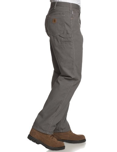 Carhartt Men's Loose Fit Five Pocket Canvas Cleaning Pant-Gray, side