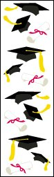 Graduation Hats - Mrs Grossmans Sticker Strips