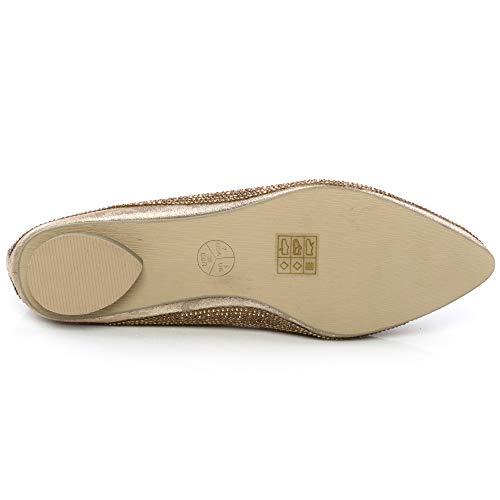 Danse Doré Classique Shalimar Shoes Femme 4Sn740qR