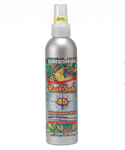 Reef Safe Biodegradable Waterproof SPF 45+ Sunscreen Spray Ecofriendly