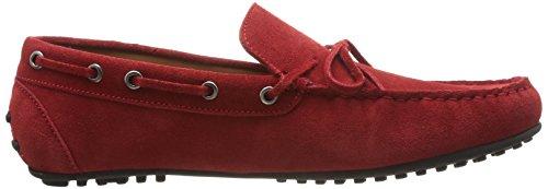 Hackett London Moccasins Bow - Mocasines para hombre, color Azul eléctrico Rojo
