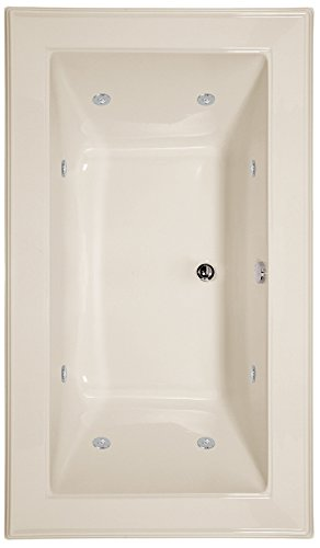 Hydro Systems ANG7242ACO-BIS-WOV.BIS Angel Acrylic Tub with Combo System (Drain Included), Biscuit