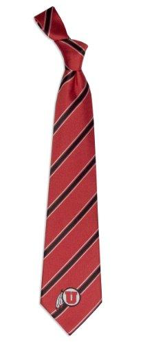 Red Ncaa Tie - NCAA Utah Utes Red Striped Woven Tie